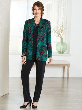Jewel Box Textured Jacket & Signarure Knits® Separates