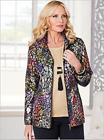 Watercolor Leopard Jacket