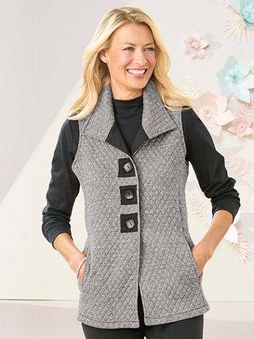 Quilted Melange Vest - Image 1 of 9