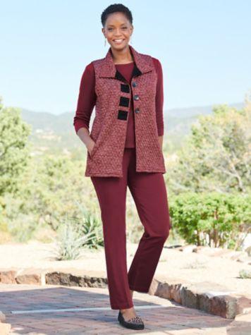 Quilted Melange Vest & Slimtacular® Denim Pants