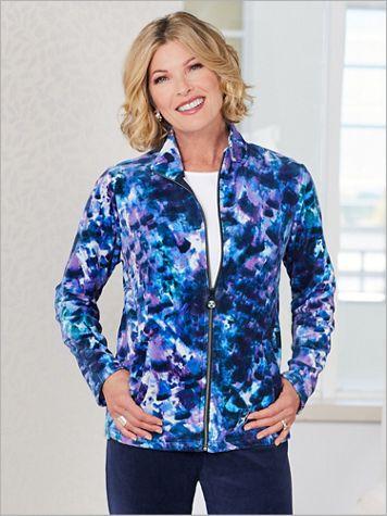 Spectrum Print Velour Jacket by D&D Lifestyle™