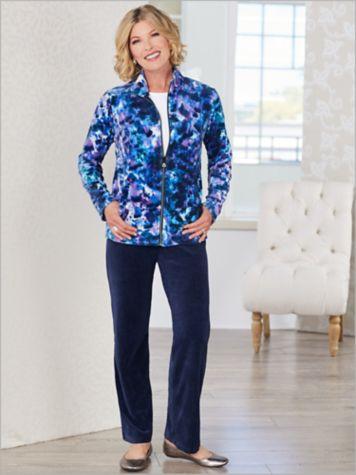 Spectrum Print Velour Jacket & Velour Pants by D&D Lifestyle™