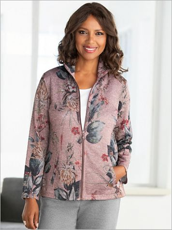 Printed Floral Zip Front Jacket - Image 2 of 2