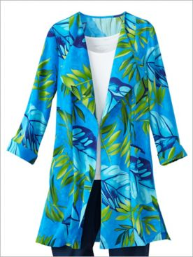 Palm Paradise Duster Jacket