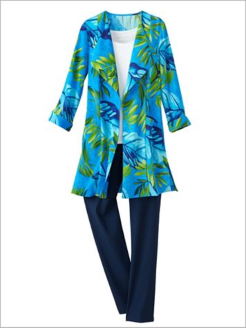 Palm Paradise Duster Jacket & Slimtacular® Ultimate Fit Pants