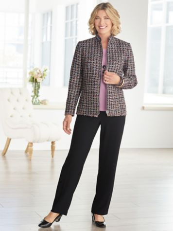 Truffle Tweed Jacket & Textured Stretch Crepe Separates