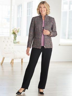Truffle Tweed Jacket & Textured Stretch Crepe Separates