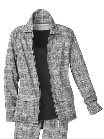 Slimtacular® Sketch Print Jacket - Image 2 of 2