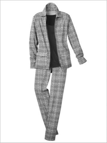 Slimtacular® Sketch Print Jacket & Print Slim Leg Pants