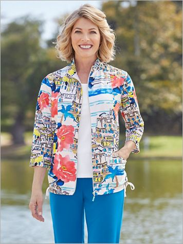 Island Zone Print Jacket by D&D Lifestyle™ - Image 2 of 2