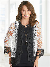 Blanc Noir Lace Jacket