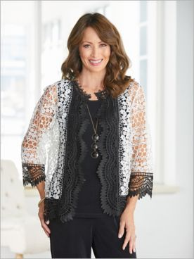 Blanc Noir Lace Jacket & Signature Knits® Separates
