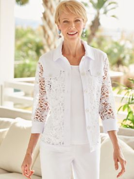Laguna Linen And Lace Jacket