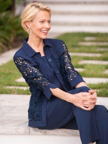 Laguna Linen & Lace Jacket & Look-Of-Linen Separates