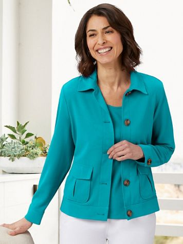 Look-Of-Linen Classic Chic Jacket - Image 1 of 7