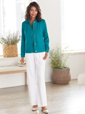 Look-Of-Linen Chic Jacket Separates
