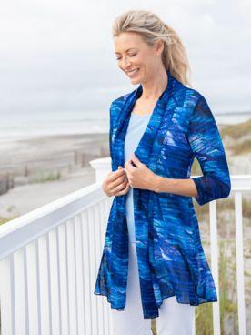 Oceanic Print Mesh Jacket