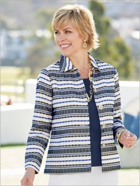 Textured Stripe Jacket