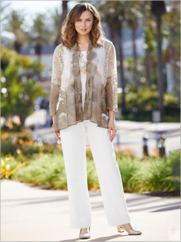 Bella Burnout Jacket & Look-Of-Linen Separates