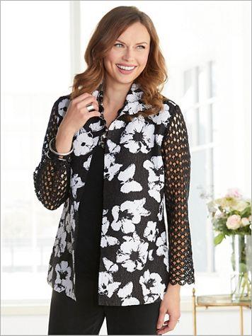Lace Floral Plissé Jacket - Image 3 of 3