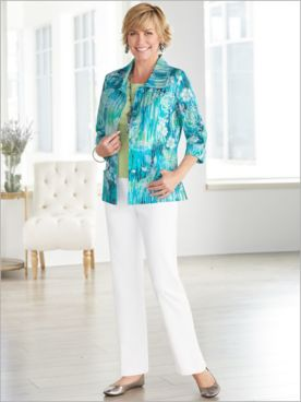 Lanal Floral Jacket & Slimtacular® Pants