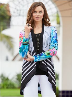 Blue Breeze Print Jacket by Picadilly