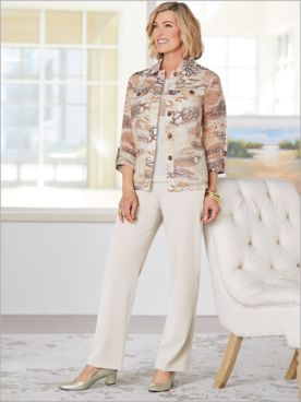 Desert Dunes Burnout Jacket & Look Of Linen Separates