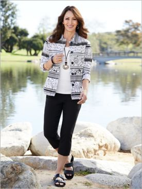 Santorini Sateen Jacket & Slimtacular® Ultimate Fit Capris
