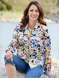 Flirty Floral Sateen Jacket
