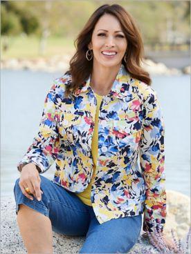 Flirty Floral Sateen Jacket