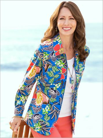 Butterfly Garden Print Jacket - Image 2 of 2