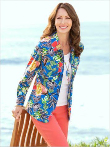 Butterfly Garden Print Jacket & Slimtacular® Pants