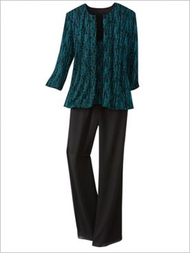 Sparkle Dust Twin Set & Georgette Slim Leg Pants