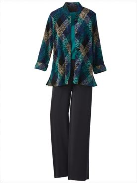 Diamond Textured Knit Jacket & Premium Knits Separates