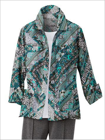 Timeless Tile Burnout Jacket