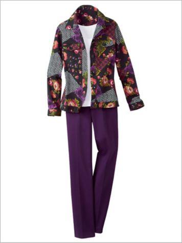 Floral Patchwork Jacket & Classic Comfort® Pants