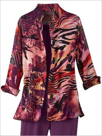 Sunset Burnout 3/4 Sleeve Jacket
