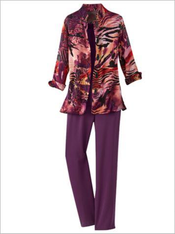 Sunset Burnout Jacket & Textured Stretch Crepe Separates