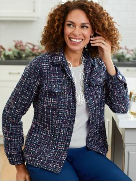 Twilight Tweed Long Sleeve Jacket