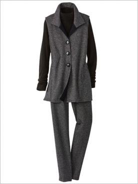 Check Knit Vest & Check Knit Pants