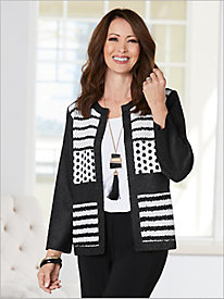 Dots & Dashes Crinkle Jacket