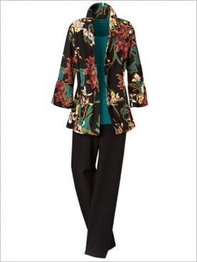 Wild Orchid Jacket & Signature Knits® Pants