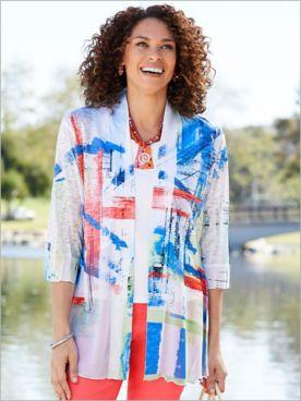 Bright Colors Print Jacket