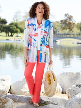 Bright Colors Print Jacket & Slimtacular® Pants