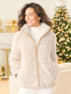 Silver Linings Sherpa Long Sleeve Jacket