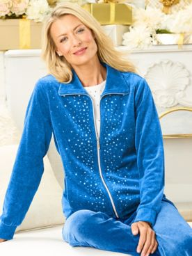 Starlight Sparkle Zip Front Long Sleeve Jacket