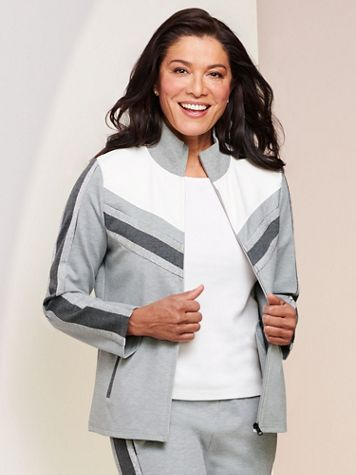 D&D Lifestyle™ Glam Leisure Knit Jacket - Image 4 of 4
