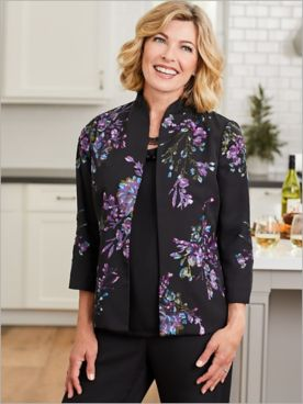 Sequin Floral Special Occasion Jacket