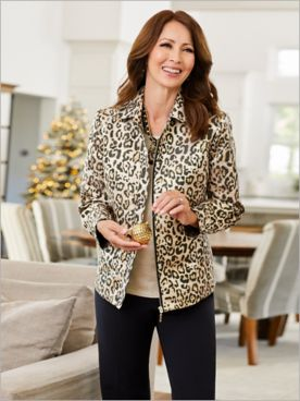 Gilded Cheetah Jacket & Slimtacular® Pants