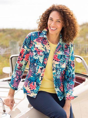 Patchwork Paradise Twill Long Sleeve Jacket